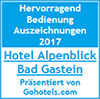 Alpenblick Bad Gastein Auszeichnung Hotel Urlaub Österreich
