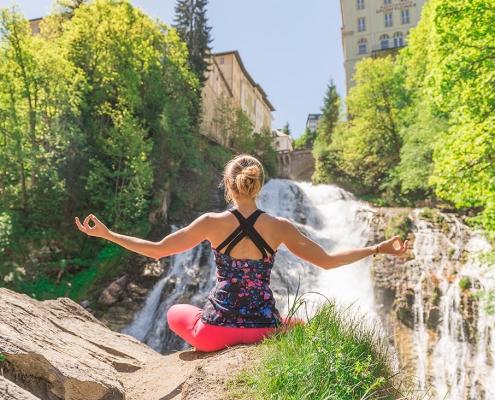 Sport Yoga Gesundheit Urlaub Alpenblick