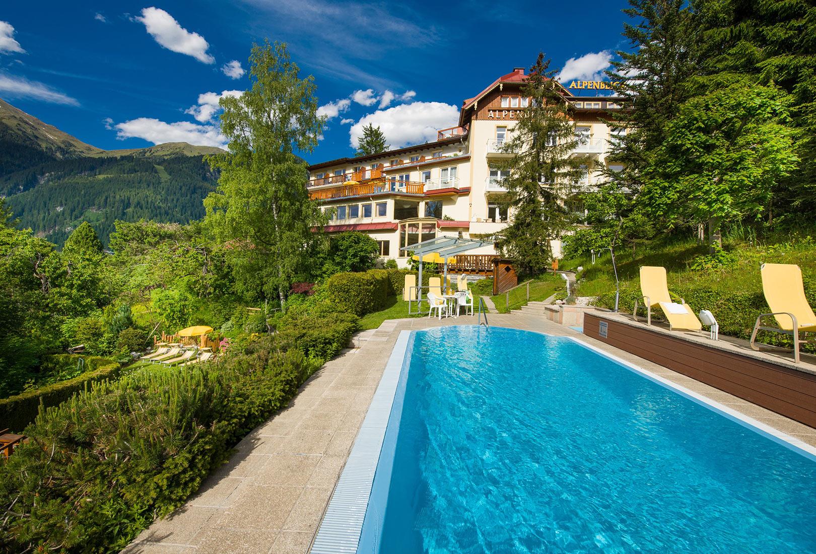 Pool Gartenanlage Hotel Alpenblick Bad Gastein