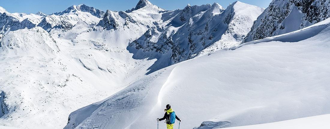 Sonnen-Skilauf Freeriden in Gastein