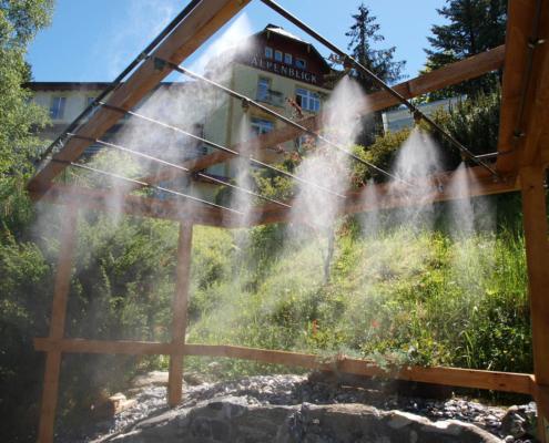 Wildwasser-Vernebelung